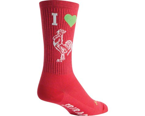 "Sockguy 8"" Socks (I Heart Sriracha) (L/XL)"