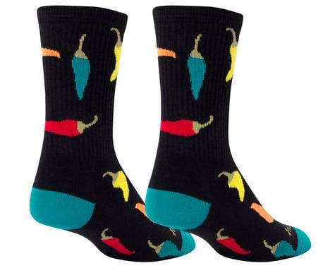 """Sockguy 6"""" Socks (Peppers) (S/M)"""