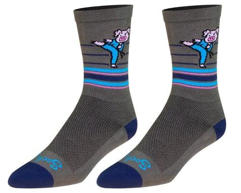"""Sockguy 6"""" Socks (Pork Chop) (S/M)"""