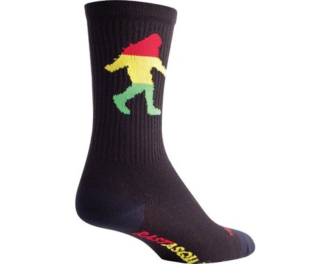 """Sockguy 6"""" Socks (Rasta Squatch) (S/M)"""