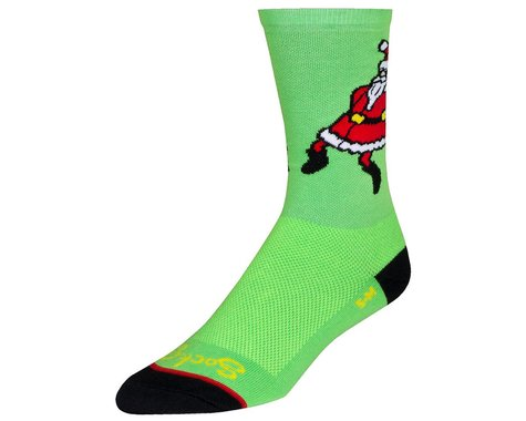 """Sockguy 6"""" Socks (Santa Jig) (L/XL)"""