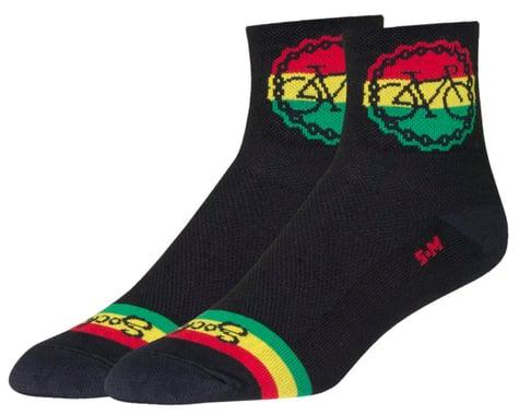 """Sockguy 3"""" Socks (Rasta Ride) (L/XL)"""