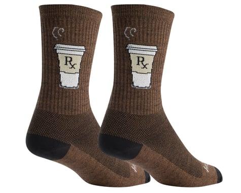 """Sockguy 6"""" Wool Socks (Addict)"""