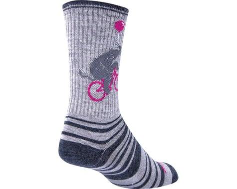 """Sockguy 6"""" Wool Socks (Circus) (L/XL)"""