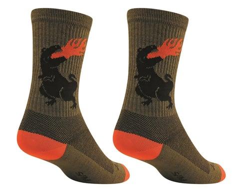 "Sockguy 6"" Wool Socks (Dinosaur) (S/M)"