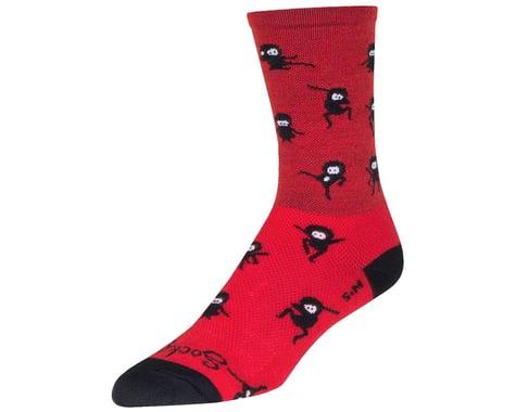"Sockguy 6"" Wool Socks (Ninja) (S/M)"