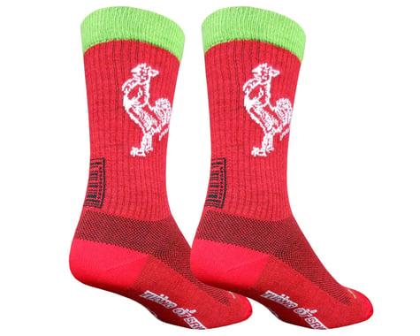 """Sockguy 6"""" Wool Socks (Sriracha) (S/M)"""