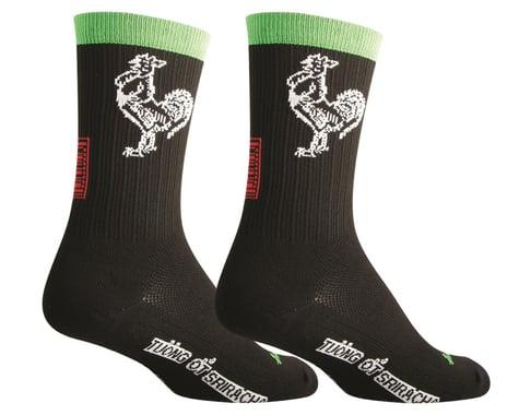 """Sockguy 6"""" SGX Socks (Sriracha) (L/XL)"""