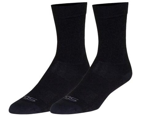 "Sockguy 6"" SGX Wool Socks (Black) (S/M)"