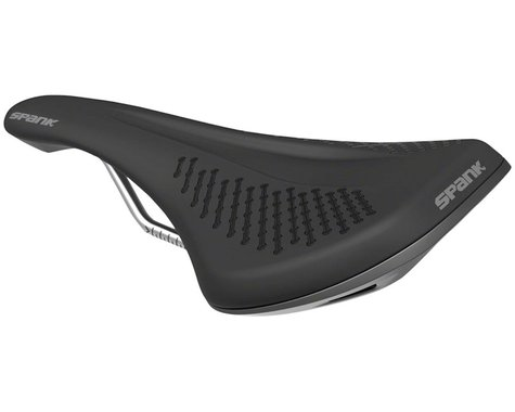 Spank Oozy 220 Saddle (Black/Grey) (Chromoly Rails) (144mm)