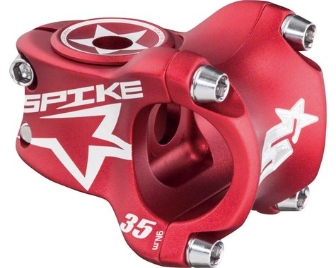 Spank Spike Race Stem 35mm Length, 31.8 Bar Clamp, Matte Red