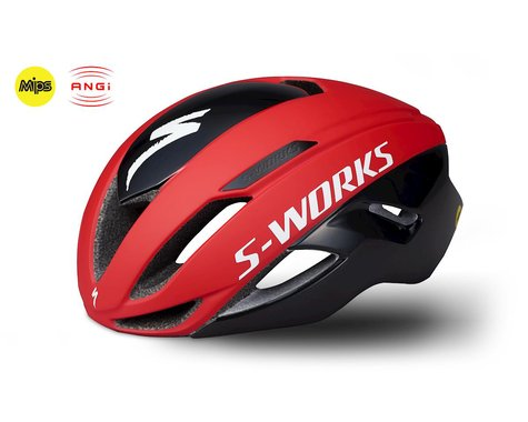 Specialized S-Works Evade Road Helmet w/ ANGi (Team Red/Black)