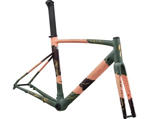 Specialized 2020 Allez Sprint Disc Frameset (Satin/Gloss Powder Coral/Sage Green/Cast Berry) (54)