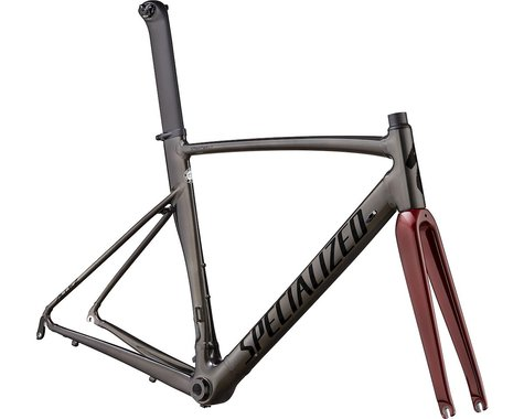 Specialized 2020 Allez Sprint Frameset (Polished Chrome Black/Black/Crimson Metallic) (58)