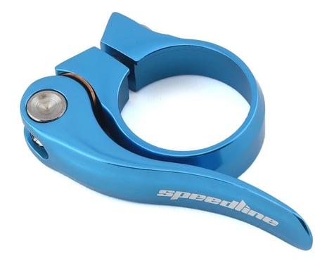 SPEEDLINE Quick Release Seatpost Clamp (Light Blue) (31.8mm)
