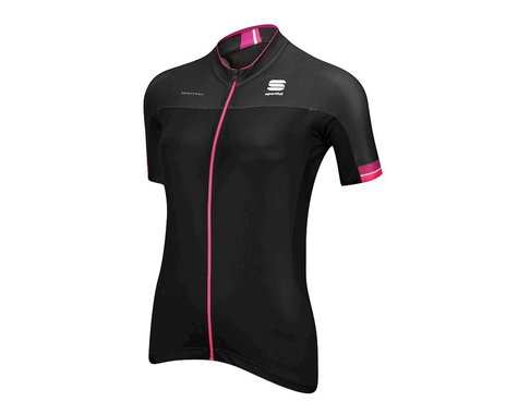 Sportful Women's BodyFit Pro Short Sleeve Jersey (Black/Pink)