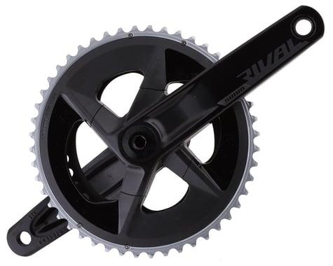 SRAM Rival AXS Crankset w/ Quarq Power Meter (Black) (2 x 12 Speed) (DUB Spindle) (D1) (165mm) (48/35T)