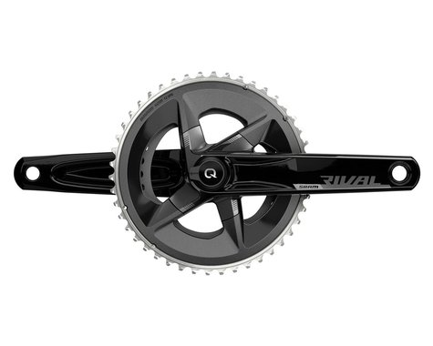 SRAM Rival AXS Crankset w/ Quarq Power Meter (Black) (2 x 12 Speed) (DUB Spindle) (D1) (170mm) (48/35T)