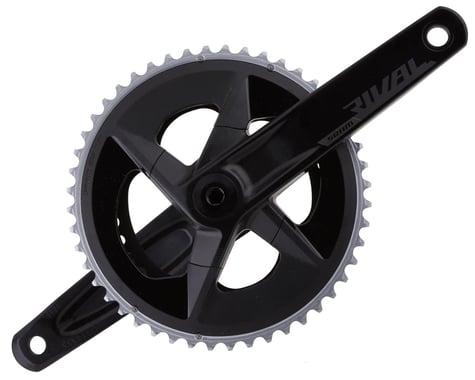 SRAM Rival AXS Crankset w/ Quarq Power Meter (Black) (2 x 12 Speed) (DUB Spindle) (D1) (172.5mm) (48/35T)