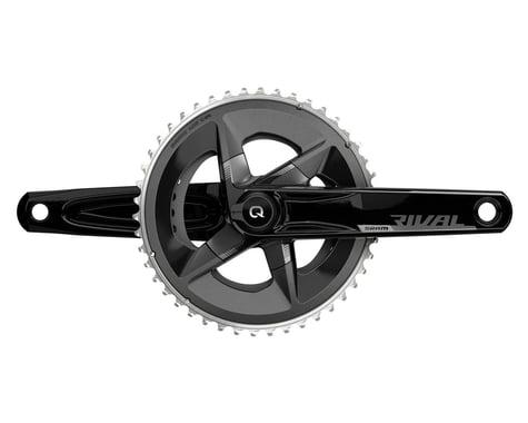 SRAM Rival AXS Crankset w/ Quarq Power Meter (Black) (2 x 12 Speed) (DUB Spindle) (D1) (175mm) (48/35T)