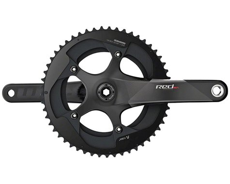 SRAM RED Crankset - 165mm, 11-Speed, 50/34t, 110 BCD, GXP Spindle Interface, Bla