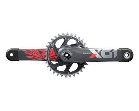 SRAM X01 Eagle 12-Speed DUB Crankset (Lunar/Red) (32T) (170mm)