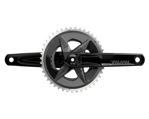 SRAM Rival AXS Wide Crankset (Black) (2 x 12 Speed) (DUB Spindle) (D1) (170mm) (43/30T)