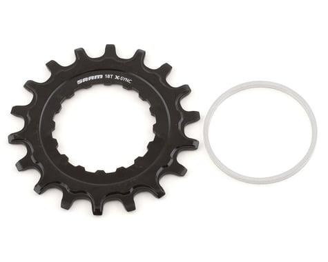 SRAM Steel X-Sync EX1 Sprocket (Black) (For Bosch Motors) (18T)