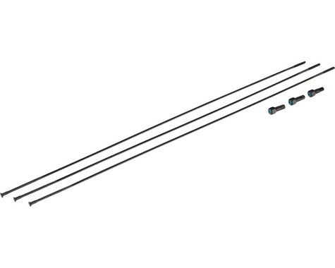 SRAM Spokes/Nipples 3-pack 281mm Bladed Straight-Pull External Black, Roam 50, 2