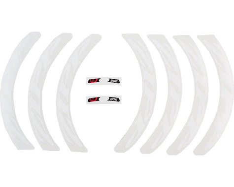 ZIPP Decal Set (Disc/808 Matte White Logo) (Complete for One Wheel)