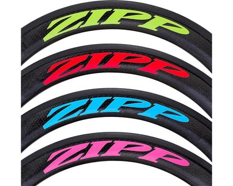 ZIPP Decal Set (404 Matte Blue Logo) (Complete for One Wheel)