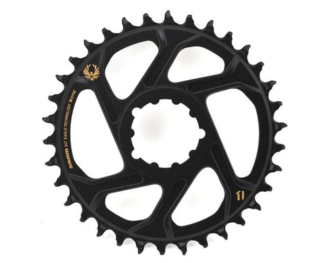 SRAM X-Sync 2 Eagle Direct Mount Chainring (Black/Gold) (Boost) (3mm Offset (Boost)) (34T)