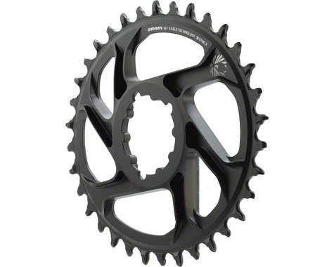 SRAM Eagle X-Sync 2 Oval Direct Mount Chainring (Black) (6mm Offset) (34T)