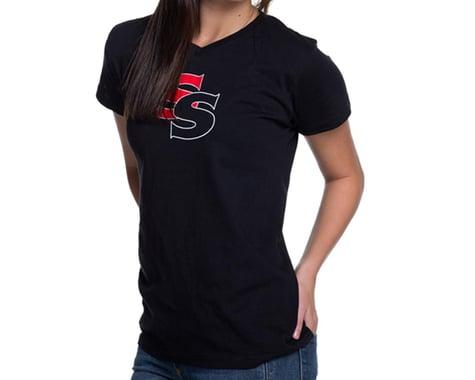 SSquared Ladies Logo Vneck T (Black) (S)