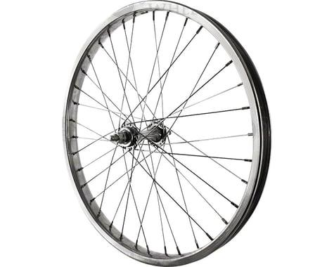 "Sta-Tru Front Wheel 20"" Silver Steel Rim, Solid Axle, and 36 Spokes, Includes Ax"