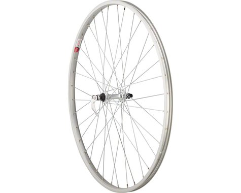 """Sta-Tru Front Wheel 27"""" x 1 1/4"""" Silver 36 Spokes, Alloy Rim 100mm Quick-Release"""