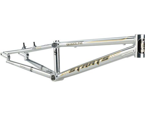 "Staats Bloodline SuperMoto30 BMX Race Frame - Pro, 20.75"" TT, Silver Arrow Polis"