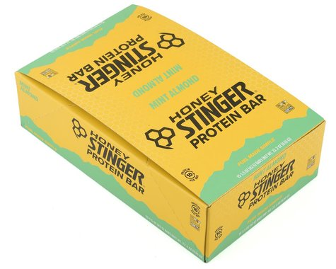 Honey Stinger 10g Protein Bar (Dark Choc Mint Almond) (15) (15 1.5oz Packets)