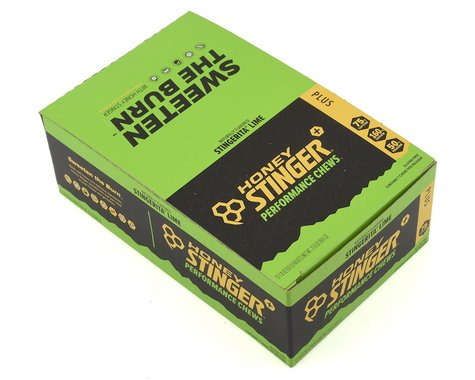 Honey Stinger PLUS+ Performance Chews (Stingerita Lime) (12 1.8oz Packets)