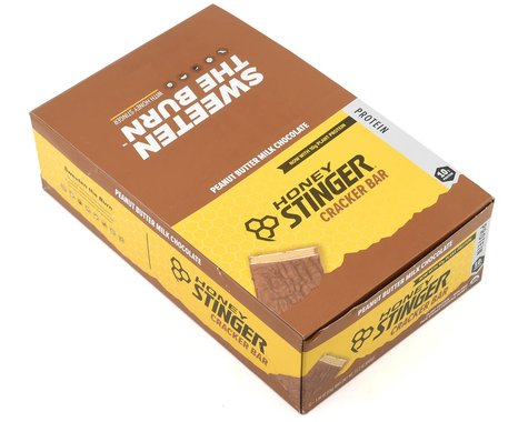 Honey Stinger Organic Protein Cracker Bars (Peanut Butter Milk Chocolate) (12 1.94oz Packets)