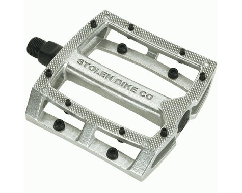 "Stolen Throttle Unsealed Pedals (Silver) (Pair) (9/16"")"