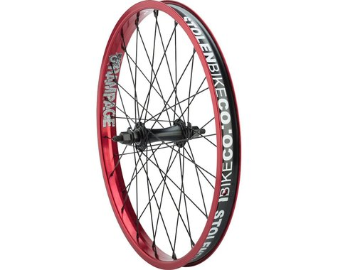 Stolen Rampage Front Wheel (Black/Red) (20 x 1.75)