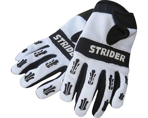 Strider Sports Adventure Riding Gloves (White/Black) (XS)