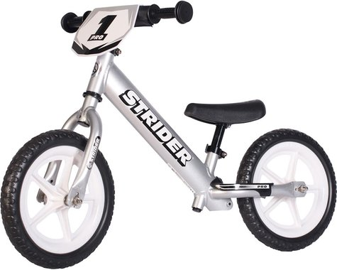 Strider Sports 12 Pro Kids Balance Bike (Silver)