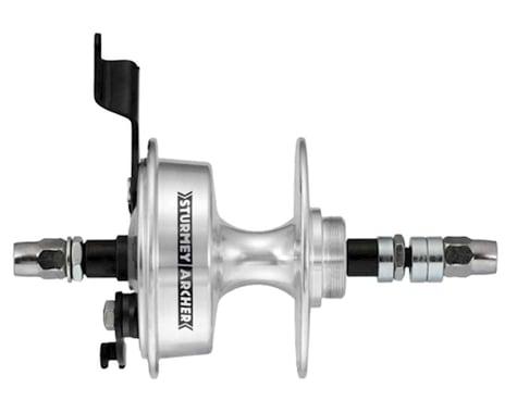 Sturmey Archer Singlespeed Drum Brake Rear Hub (Silver) (36H)