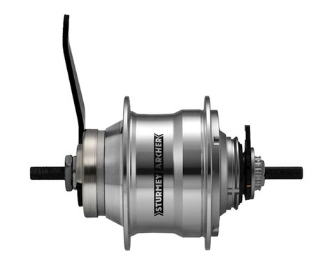Sturmey Archer Rear Coaster Hub (Silver) (36H) (5 Speed) (Includes Twist Shifter)