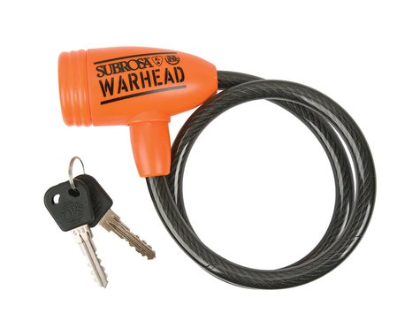Subrosa Warhead Cable Bike Lock (Orange/Gray)