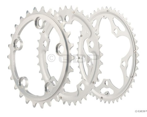 Sugino Supershift Pro Triple 5-Bolt Chainring Set (Silver) (74/110mm BCD) (26/36/46T)