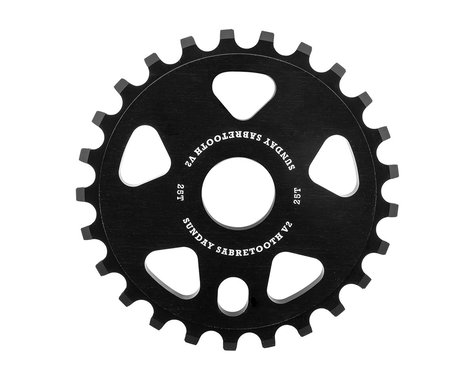 Sunday Sabretooth V2 Sprocket (Black) (25T)
