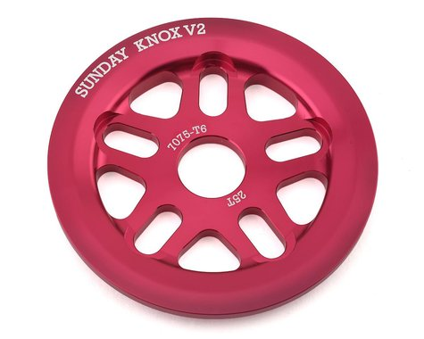 Sunday Knox V2 Guard Sprocket (Fuchsia) (25T)